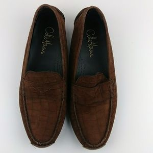 Cole Haan Air Croc Texture Loafers Brown Suede